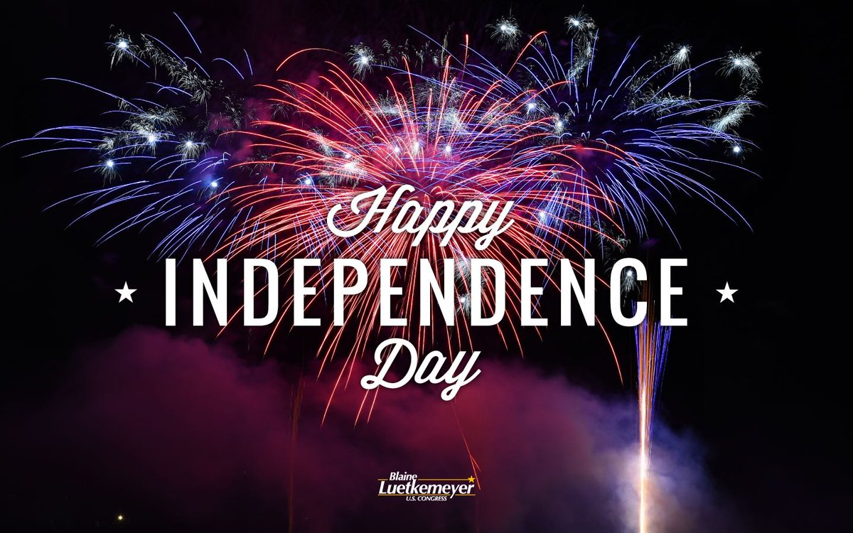 Happy Independence Day! I hope it's safe and full of friends, family and festivities. Who else is going to be watching President Trump's 4th of July celebration? https://t.co/vDRBWuHxch