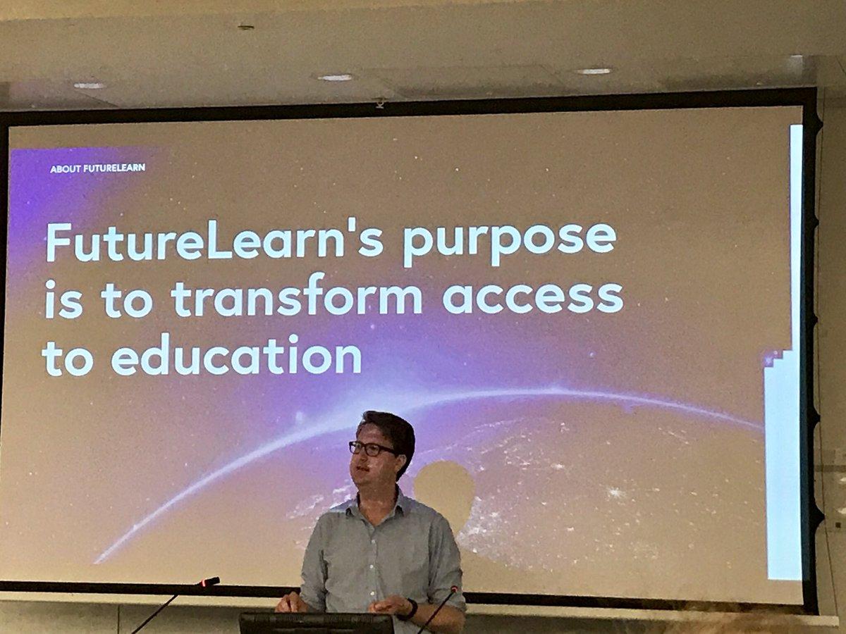 FutureLearn's purpose is to transform access to education - Nigel Smith #TELfest