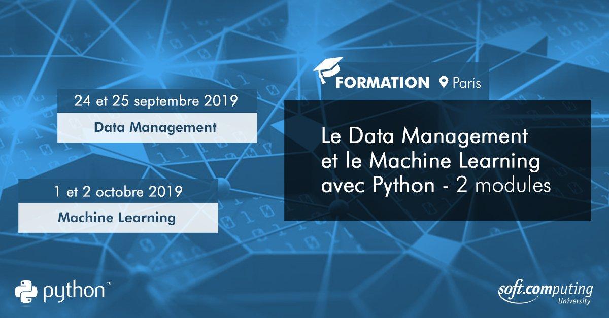 [Formation] #Python – 2 modules #DataManagement les 24-25 septembre & #MachineLearning les 1-2 octobre. Inscrivez-vous dès à présent à notre prochaine session ==> https://t.co/BqCtOKb2VR #Formation #DataScience #Marketing #Data #Paris https://t.co/3E3EhmzqAo