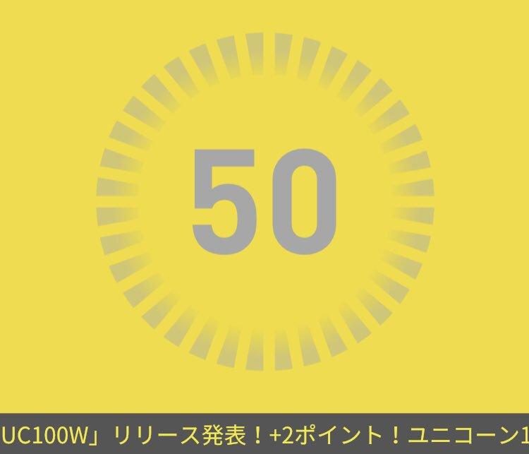 武道館DAY2ありがとうございました!+1ポイント!さらにアルバム「UC100W」リリース発表!+2ポイント!UC100アプリ〇AppStore〇GooglePlay#UC100