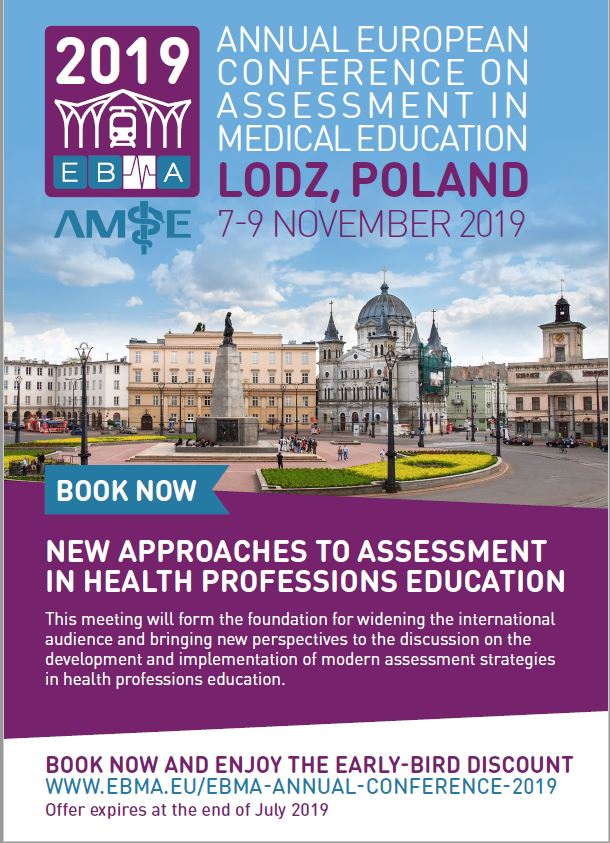 Calling on all #medicaleducators to submit an abstract on #assessment #medicaleducation for @EBMAorg annual conference in Lodz, Poland (7-9 Nov). Don't miss out the deadline for early-bird registration! Join us and share your research; https://bit.ly/30zqOf0  #asmeasm2019