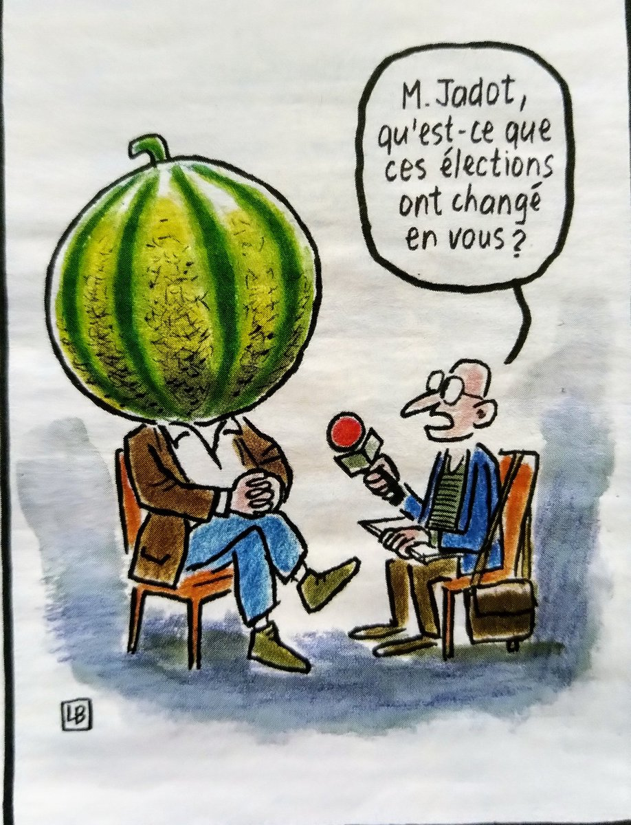 "Zgur_ on Twitter: ""#Jadot et le melon. #EELV… """
