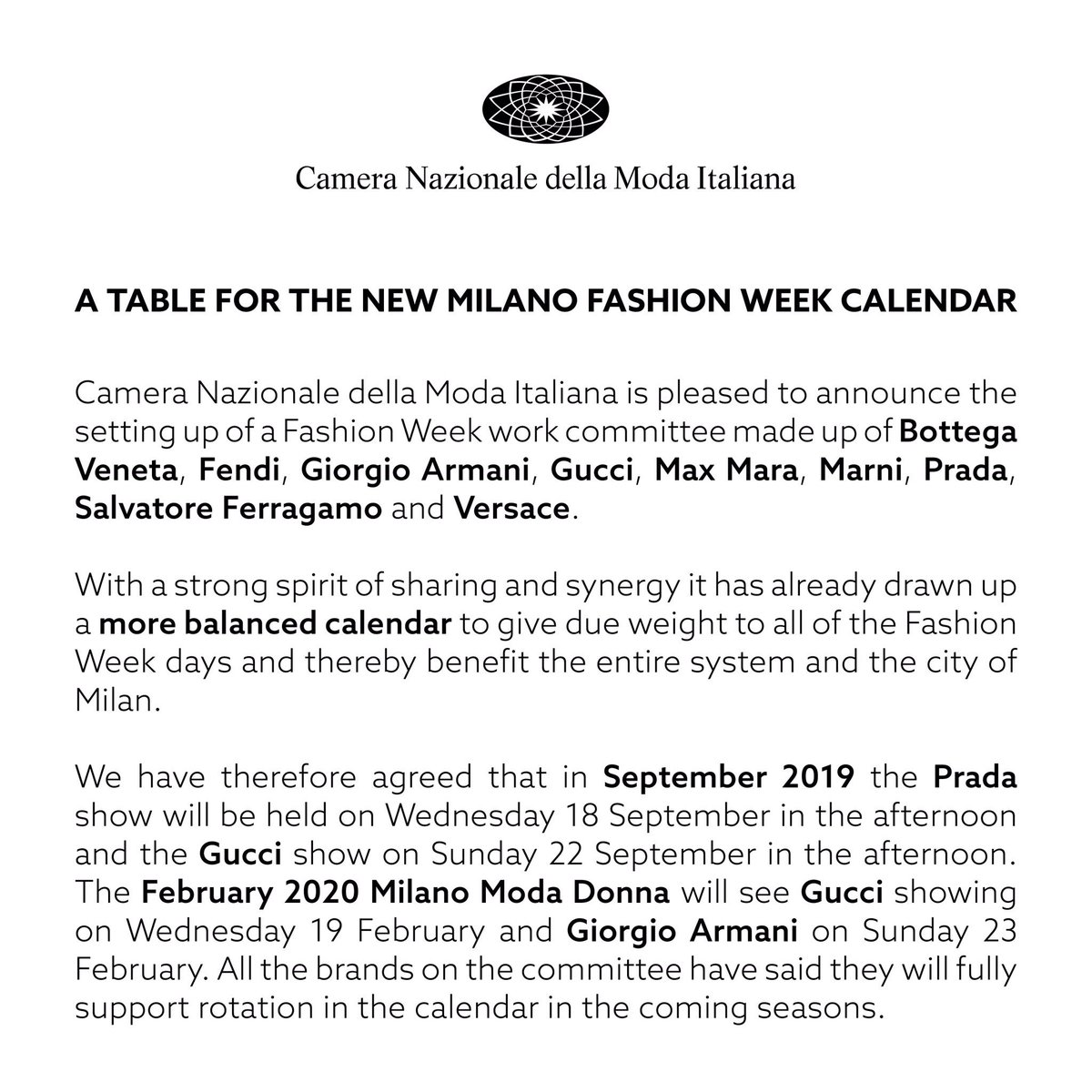 February 2020 Fashion Calendar cameramoda on Twitter: