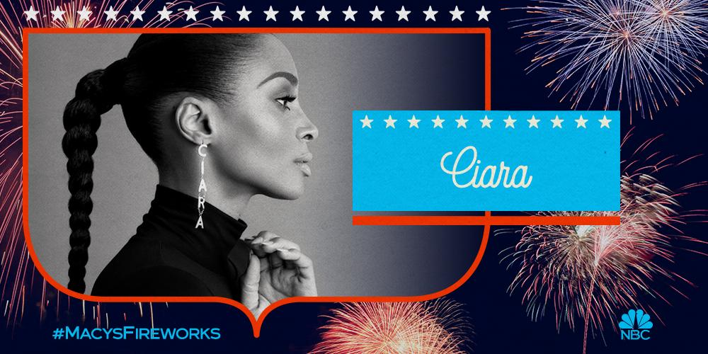 RT @ciara: The 2019 #MacysFireworks Spectacular is TONIGHT! Join me for some star-spangled fun at 8/7c on @NBC! 💥🎶 https://t.co/dQouDzR7Z8