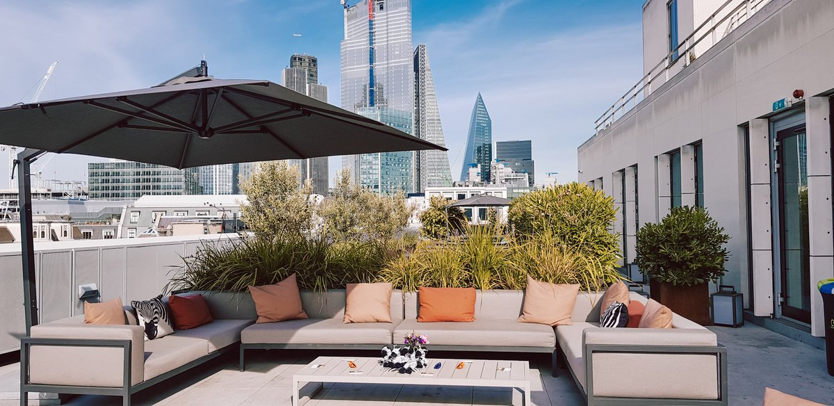 We're ready for the member #SummerRecpetion, @InvestecWin rooftop ready and waiting and the sun is shining 🙌
