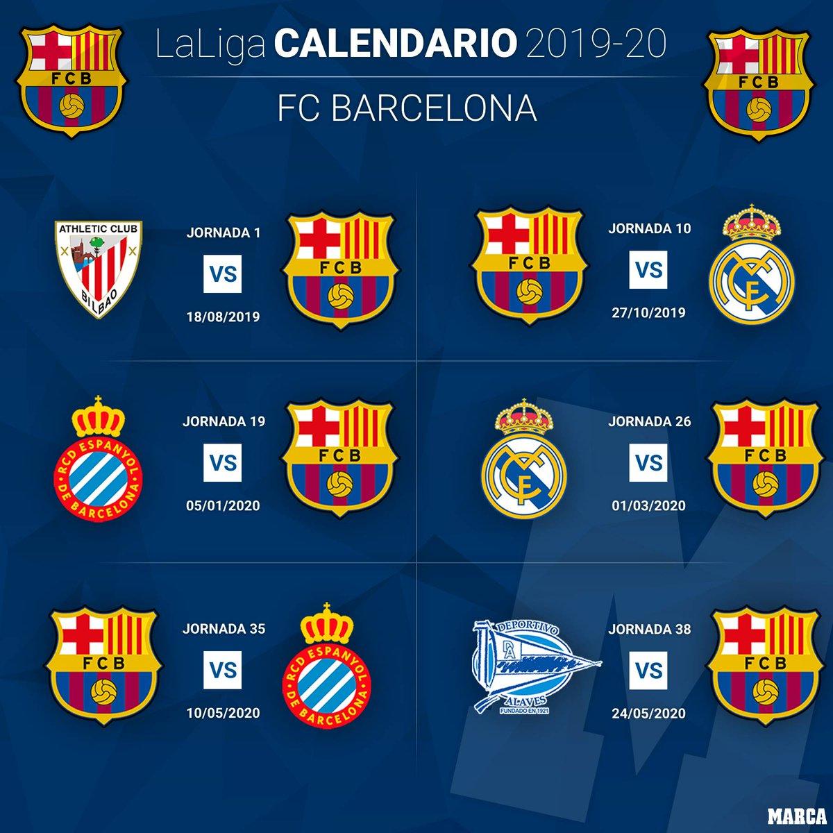 Calendario Del Barca.Marca On Twitter El Calendario Del Barca En 6 Fechas Todos