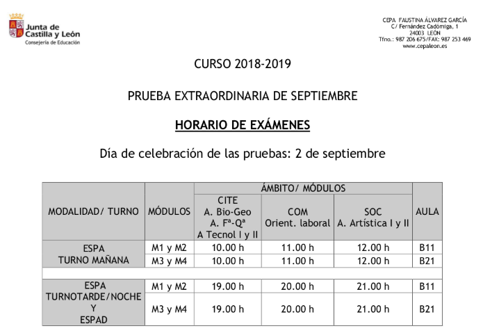 Calendario Educacyl.Cepa Faustina Alvarez Garcia Cepaleon Twitter Profile And
