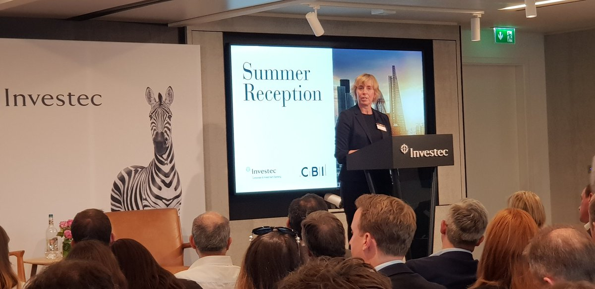 @Isabel_Dedring opens the #SummerReception at @InvestecWin