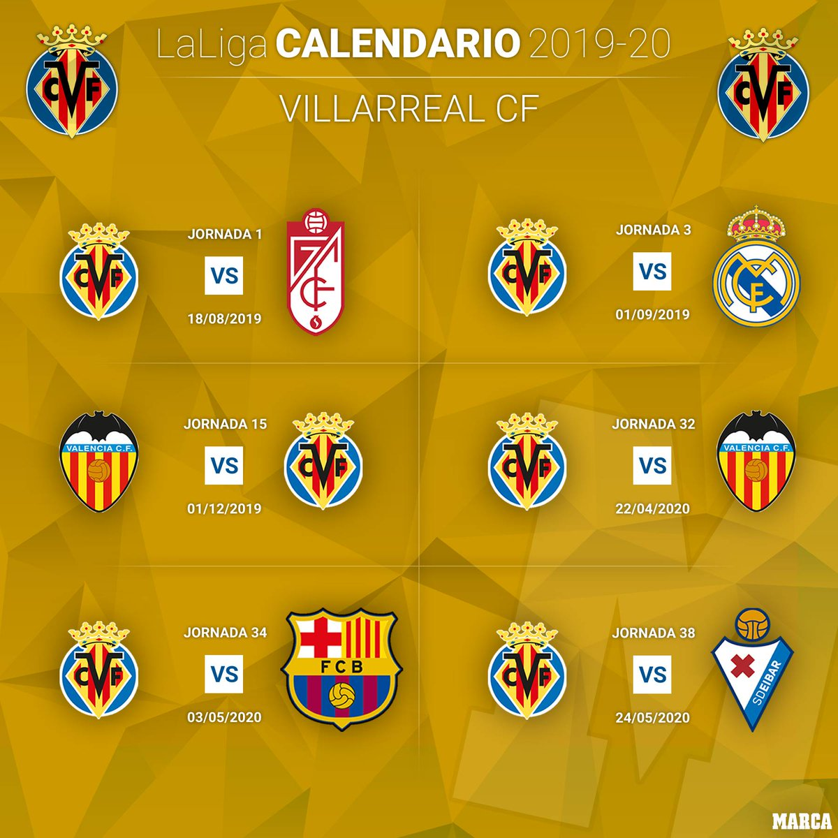Calendario Del Villarreal.Marca On Twitter El Calendario Del Valladolid En 6