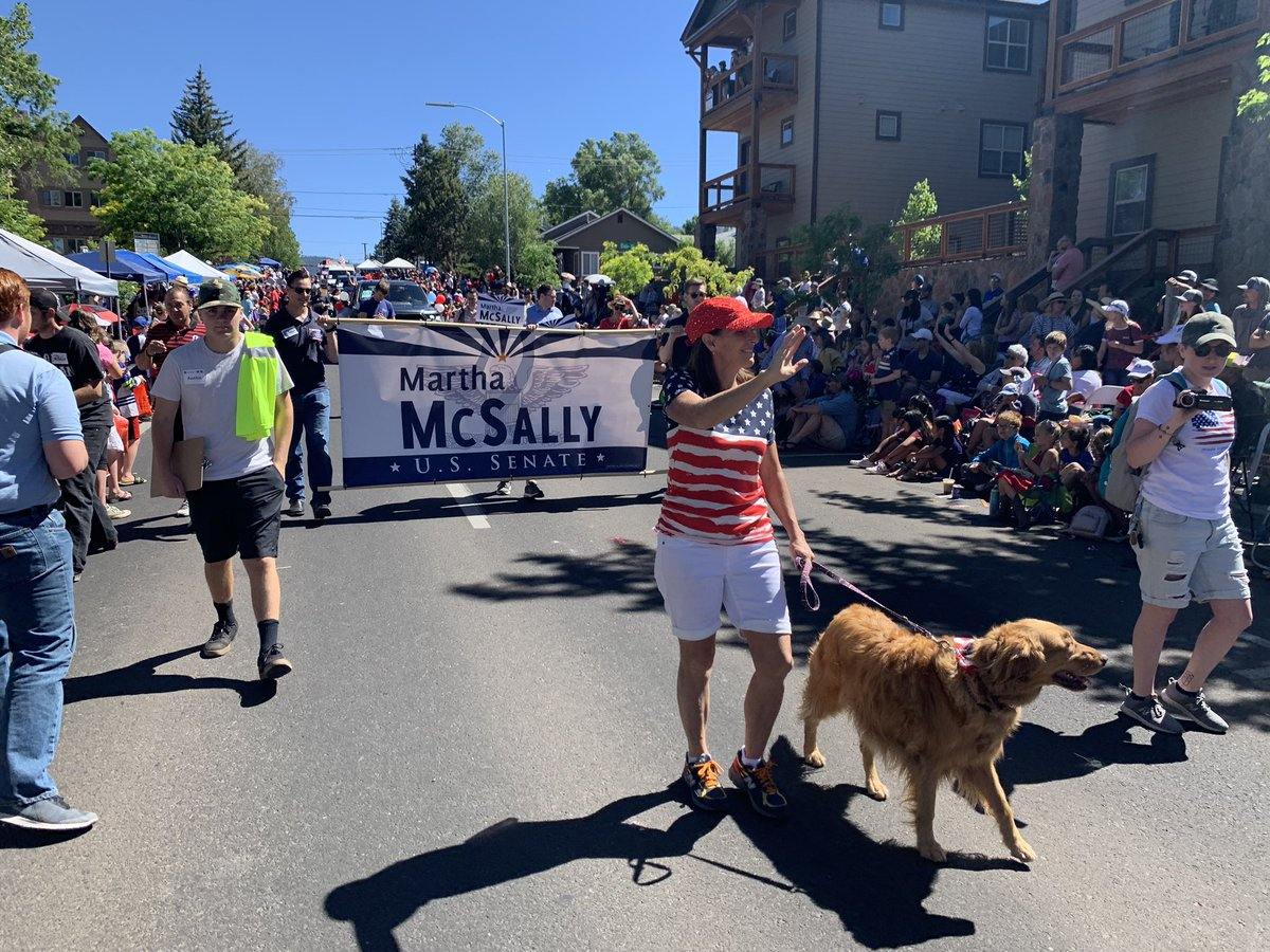 Having a great time at the #Flagstaff #4thofJuly parade!