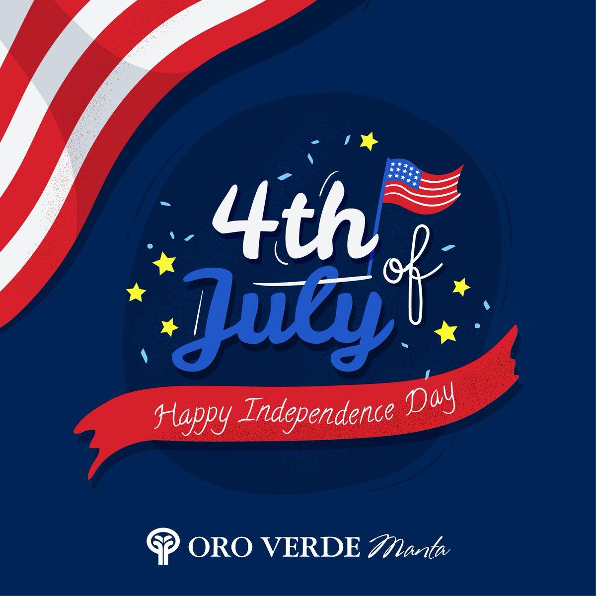 Podemos pensar en la libertad no como el derecho a hacer lo que nos plazca, sino como la oportunidad de hacer lo que es correcto. Feliz Día de la Independencia  #OroVerdeManta #Deluxe #Manta https://t.co/Cs7vVvoPTD