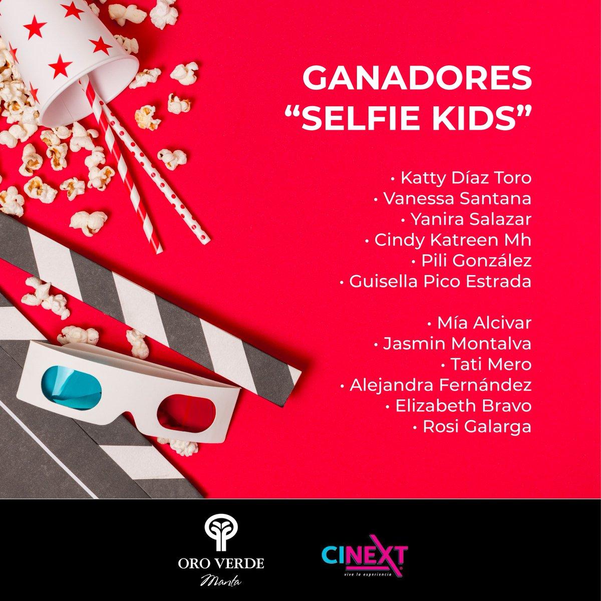 """¡GANADORES DE ENTRADAS A CINEXT! 🤩🤩🤩 Hotel Oro Verde Manta y Cinext Ecuador felicita a los ganadores de las dos últimas semanas del Concurso """"Selfie Kids"""". Un paraíso frente al mar les espera! #OroVerdeManta #Cinext #SelfieKids https://t.co/bUkXoY218h"""