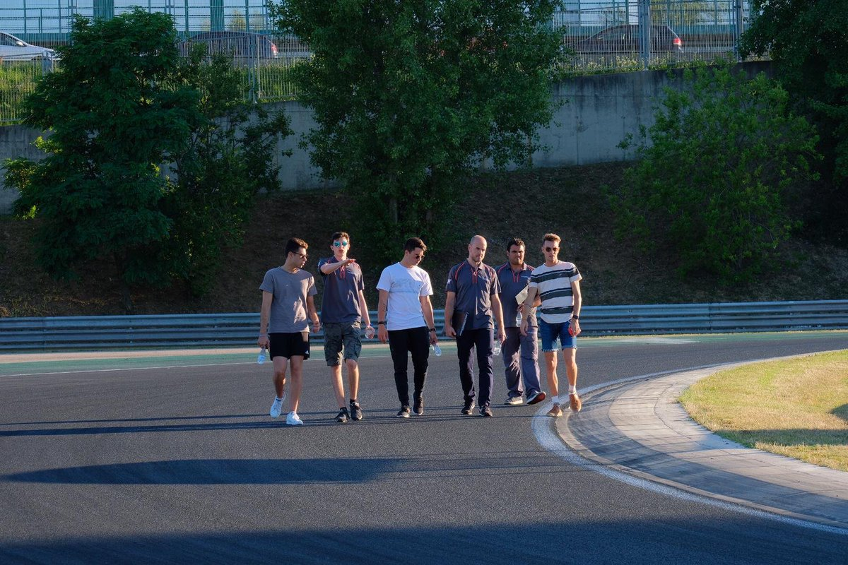 Walking with the team @teommotorsport on the racetrack of @HungaroringF1. Everything is ready for tomorrow's FP  #TrackWalk #MarcdeFulgencio @McLarenAuto @customerracing @GTCupopen