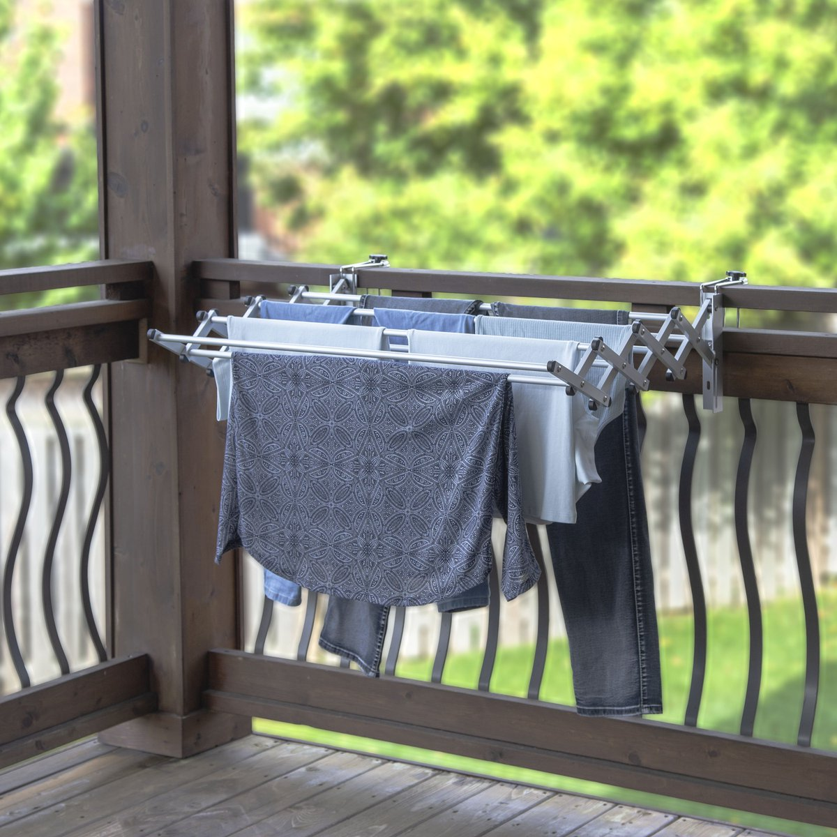 Our featured #streamlineyoursummer giveaway item can be installed on any balcony, fence, RV, pool shed or in your laundry room or basement. It conveniently folds away when not in use. Learn more here: https://t.co/Eb18OthIYd https://t.co/zRXadSGQDn