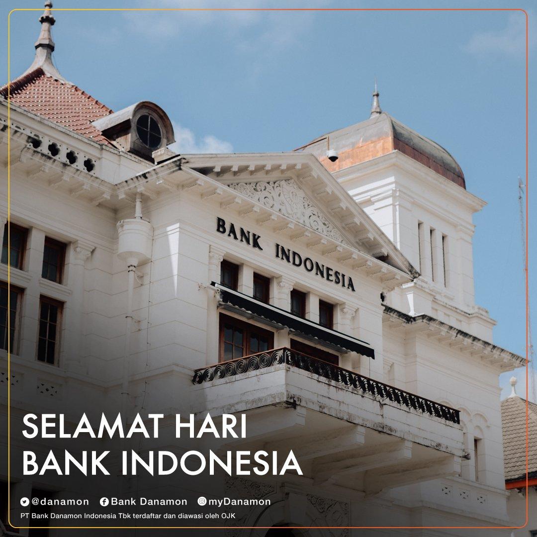 Fungsi bank secara umum adl sebagai tempat menyimpan uang. Tapi, tahukah kamu fungsi Bank Indonesia itu punya peran yang penting bagi negara Indonesia? Yang tahu, reply tweet ini, yuk!  Selamat Hari Bank Indonesia.   #Danamon #BankDanamon #HariBankIndonesia #SaatnyaPegangKendali https://t.co/zzMLnacPgg