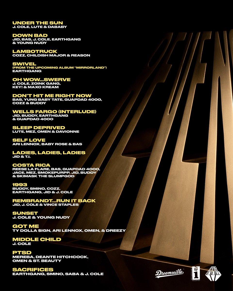 Tracklist #ROTD3 #Dreamville