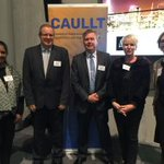 Image for the Tweet beginning: NZ universities at CAULLT event