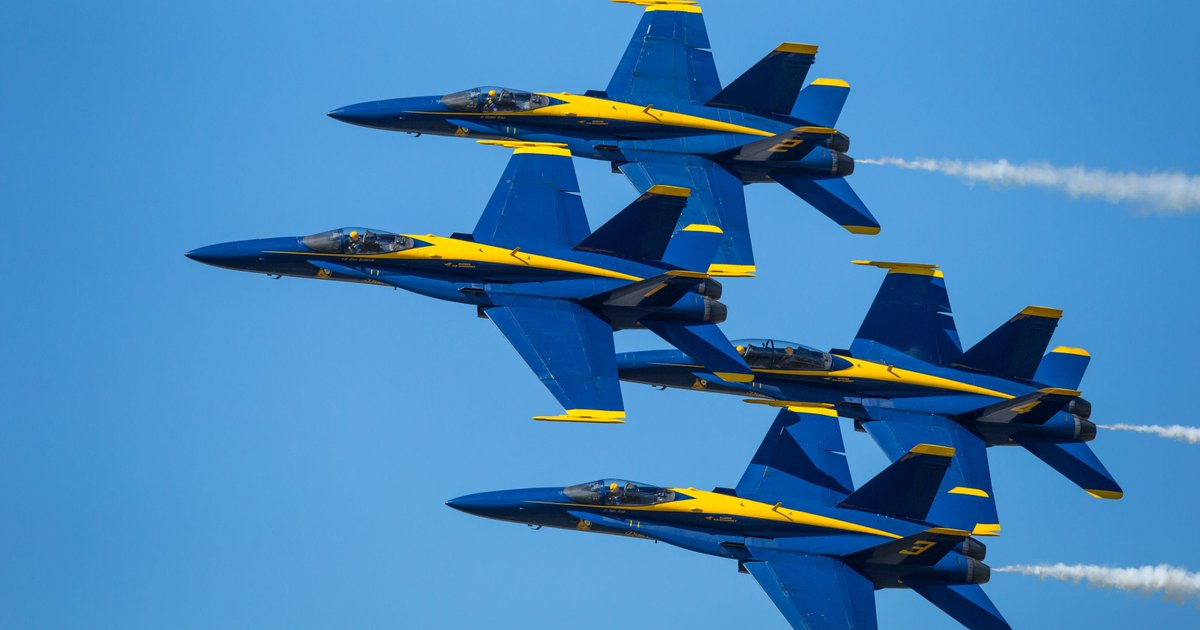 Whenever you are in the Pensacola Florida area, go see the famous Blues; they will make you so proud ~ https://www.blueangels.navy.mil/show/#practice
