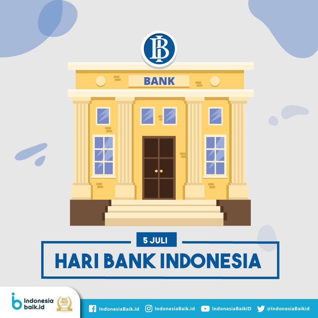Selamat Hari Bank Indonesia  #indonesiabaik #yangmudasukadata #haribankindonesia https://t.co/CYH19ec1wg