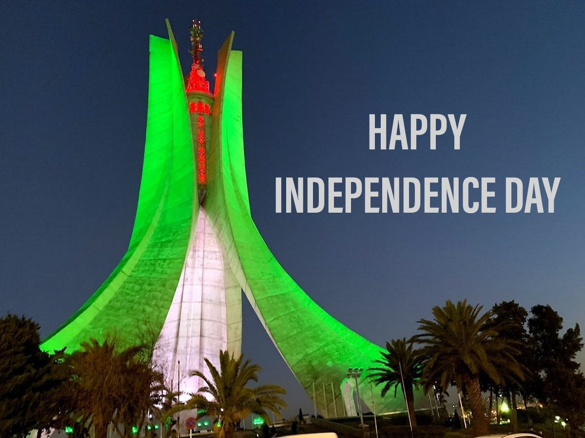 Happy Independence Day Algeria    #عيد_الاستقلال #حراك_5_جويلية  #عيد_استقلال_الجزائر   #Algeria #Algérie   #عيد_استقلالك_يا_جزاير #عيد_الاستقلال #الجزائر  #5juillet1962 #5Juillet #IndependenceDay <br>http://pic.twitter.com/1ok0S3PpFF