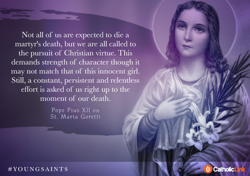 """We are all called to pursuit of #Christian virtue""  St. #MariaGoretti https://t.co/wvBWKeqkEn"