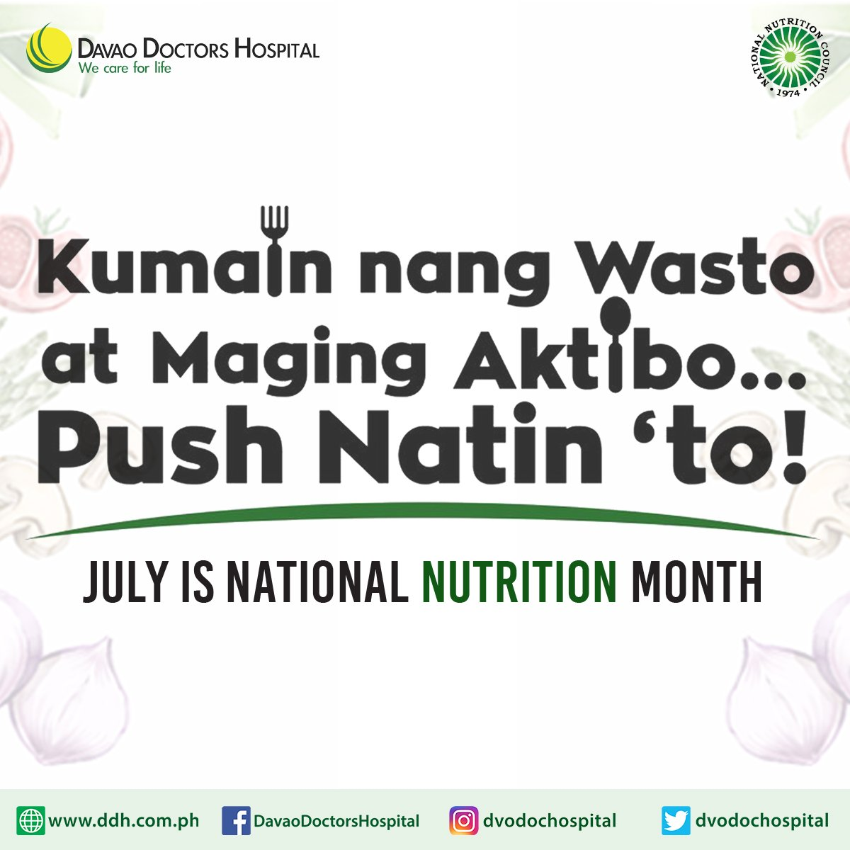 ddhfridayhealthtidbits kumain ng wasto at maging aktibo push natin to to know more https mayocl in 2ioxfzp ddhcares nutritionmonth