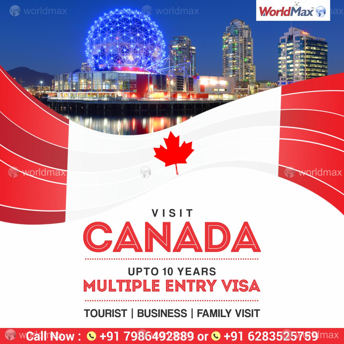 Apply for Canada Multiple Entry Tourist Visa !! Low Fees and