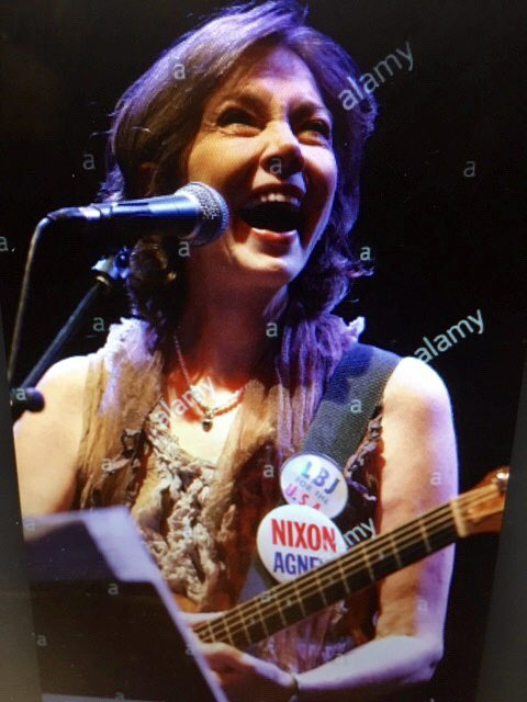 Happy birthday to Nanci Griffith today, playing both sides politically here.