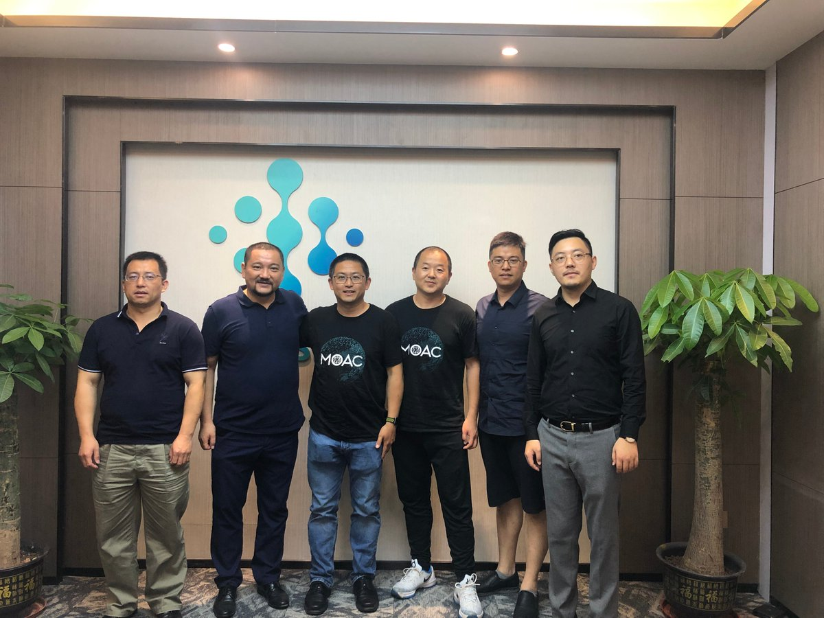 Welcome @moac_io MOAC CTO Yang Xinle and China Operations Director Hua Chen to visit us!☺️ #blcokchain #IntelliShare #MOAC #technology