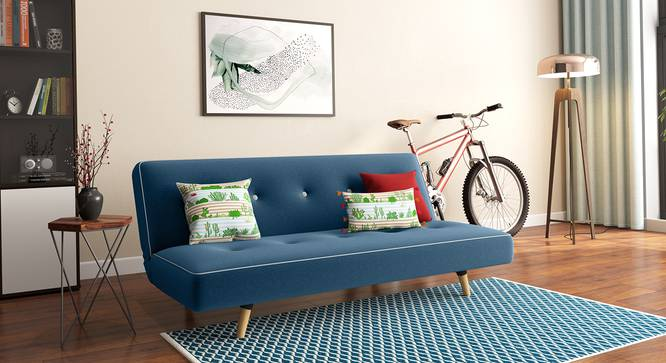 """Urban Ladder On Twitter: """"🚨 Just In 🚨The Gorgeous Zehnloch In Blue. This Sofa Bed, Blends Classic Mid-century Details With A Chic Colour Scheme To Create A Design You"""