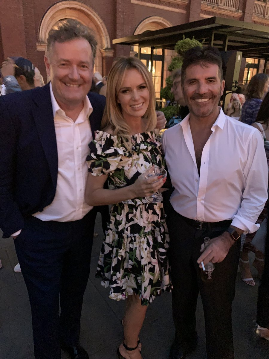 """Piers Morgan on Twitter: """"Reunited! The first - and best, if you go by the  ratings 🤣 - @BGT judging team. Be quite fun to work with these two again.  We always"""