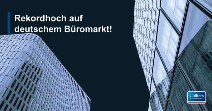 Mit einem Flächenumsatz von 1.870.400 m² in den Top 7 wurde auf dem deutschen #Büro-Markt zur Jahresmitte das stärkste jemals verzeichnete Ergebnis erzielt.<br></noscript>Alle Infos zur Halbjahresbilanz des Büromarktes gibt's hier:  t.co/x3d9iy328Y