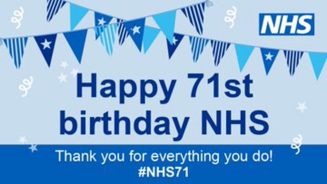 🎉 Happy Birthday #NHS 🎉 Today marks 71 years since the NHS launched. #NHS71 #NHSBigTea #LTHT