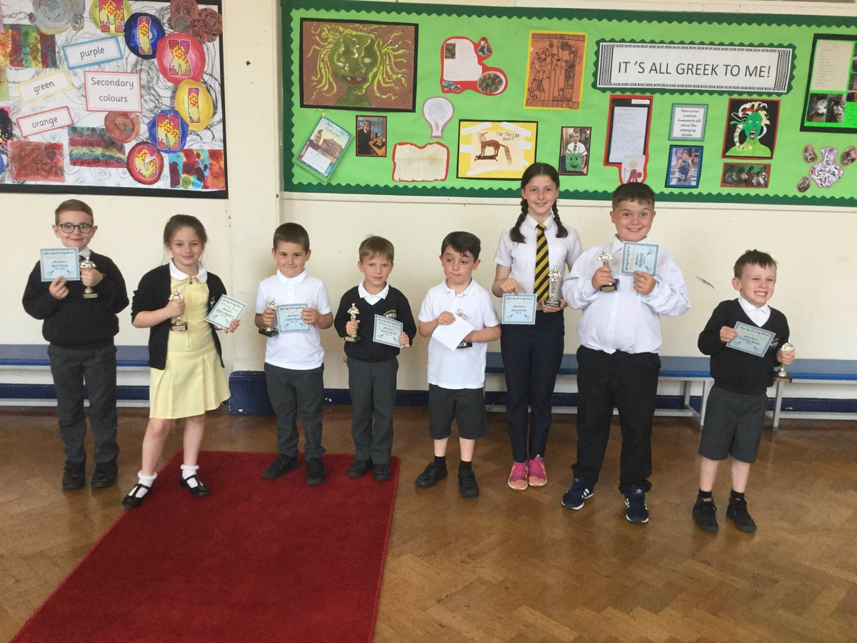 @RomileyPS winners of the Writing Oscars. The quality of work these children have produced is amazing. Well done, we are proud of you 👏📝👍
