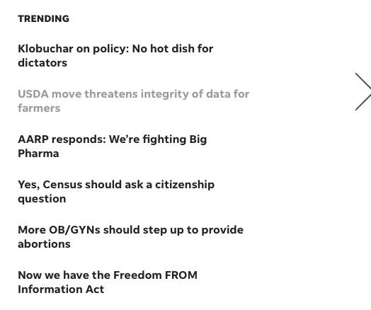 Katherine Wallman's op-ed is trending on the @DMRegister opinion webpage.  https://www.desmoinesregister.com/opinion/ Please share it with your networks to make more people aware of her important perspective as former Chief Statistician of the US. Keep #ERS_Strong, #NIFA_Strong; @CountOnStats