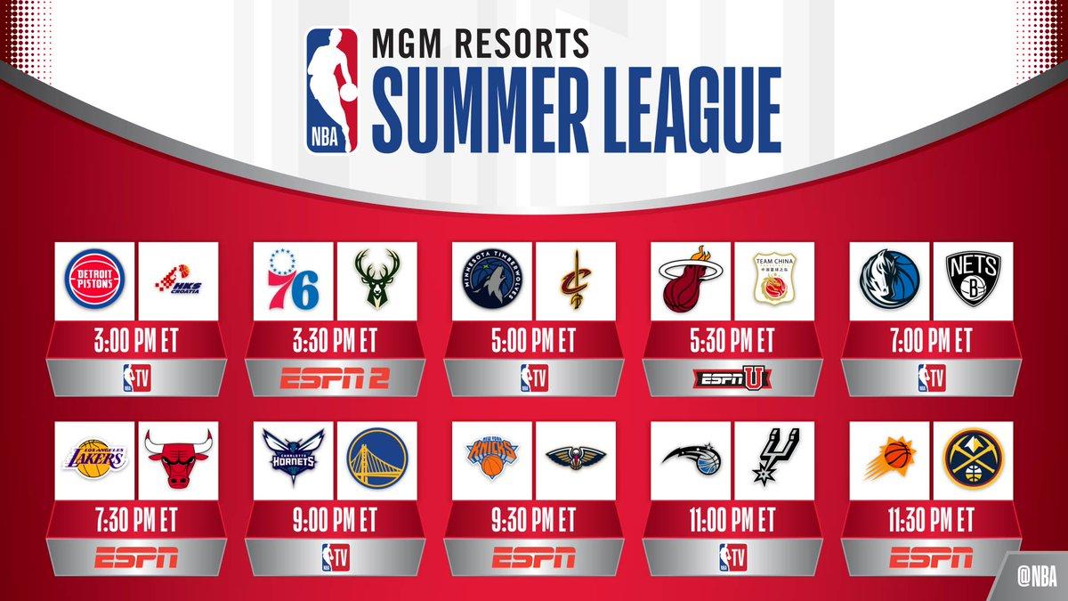 🚨 #NBASummer 🚨  2019 @NBASummerLeague begins TODAY with 10 games in Las Vegas!
