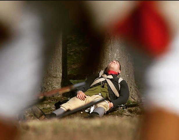 A 2nd mass soldier wounded at battle road @minutemannps #revolutionarywar #reenactment #newengland #massachusetts https://t.co/YNmioxFMev