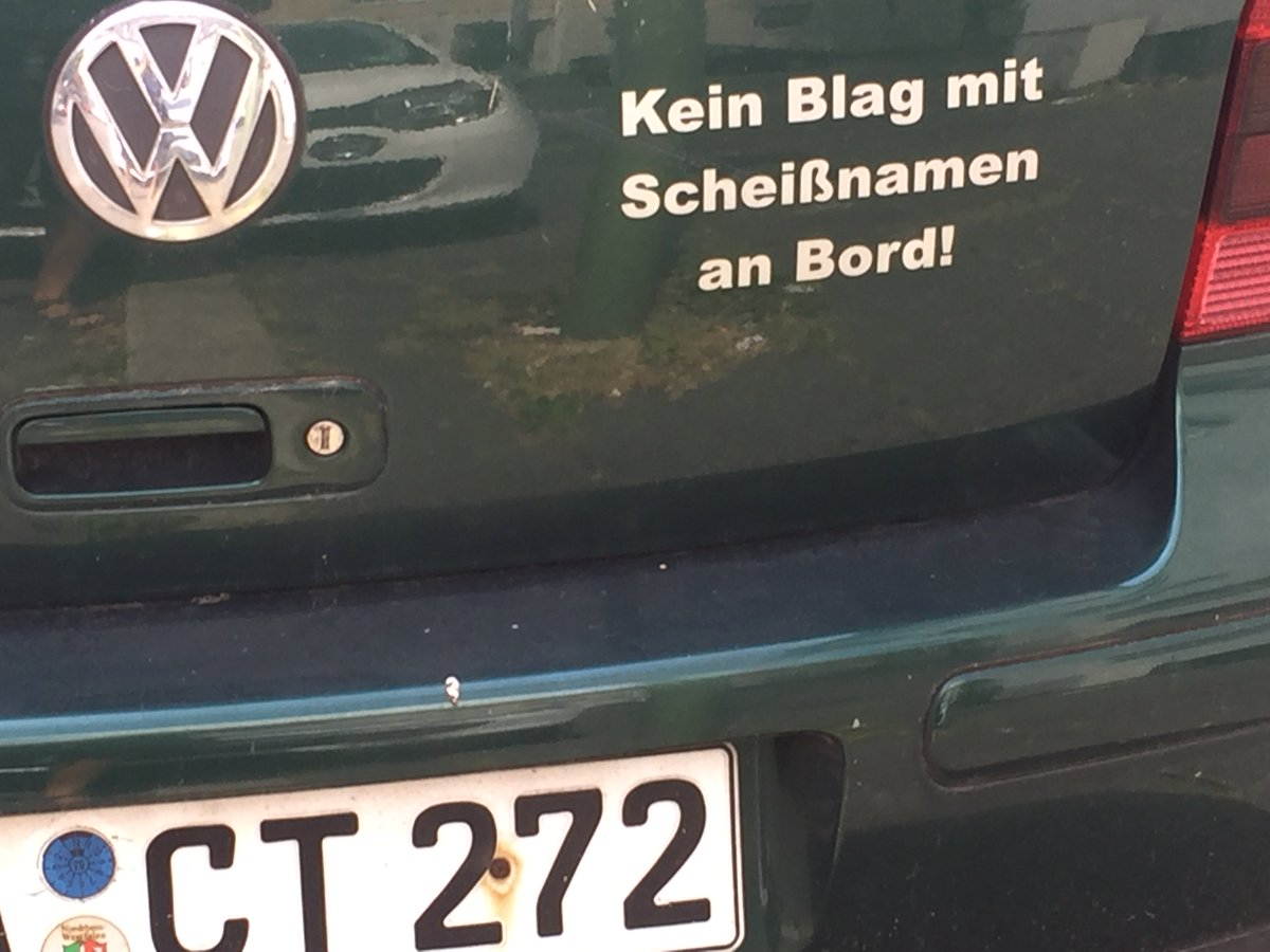 """This is why I love my hometown. """"No bairn with shit name on board."""" #Hagen"""