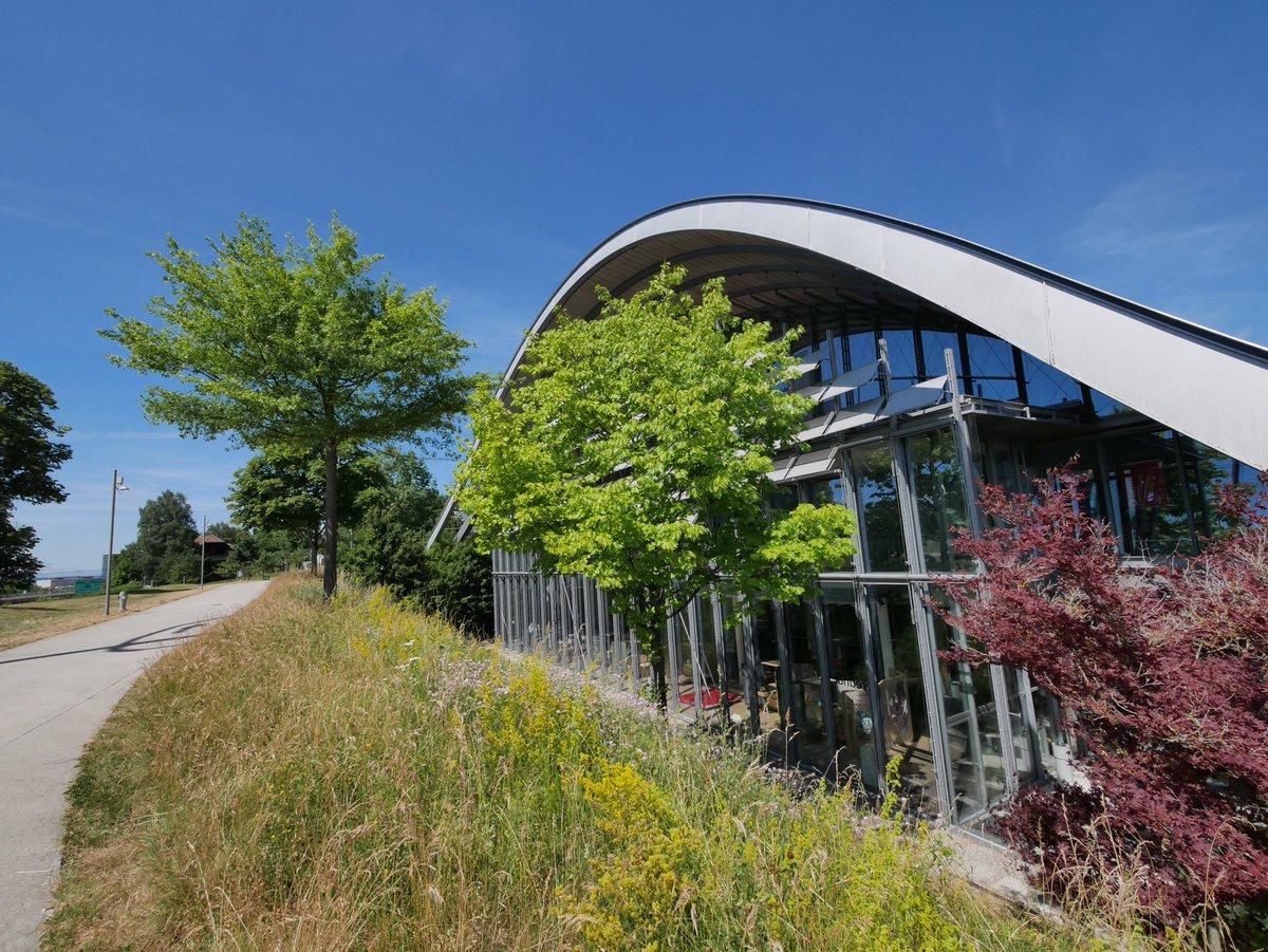 Le bâtiment du @ZentrumPaulKlee est superbe : il a la forme de 3 collines parfaitement intégrées dans la nature. On le doit à l'architecte Renzo Piano. #ilovebern