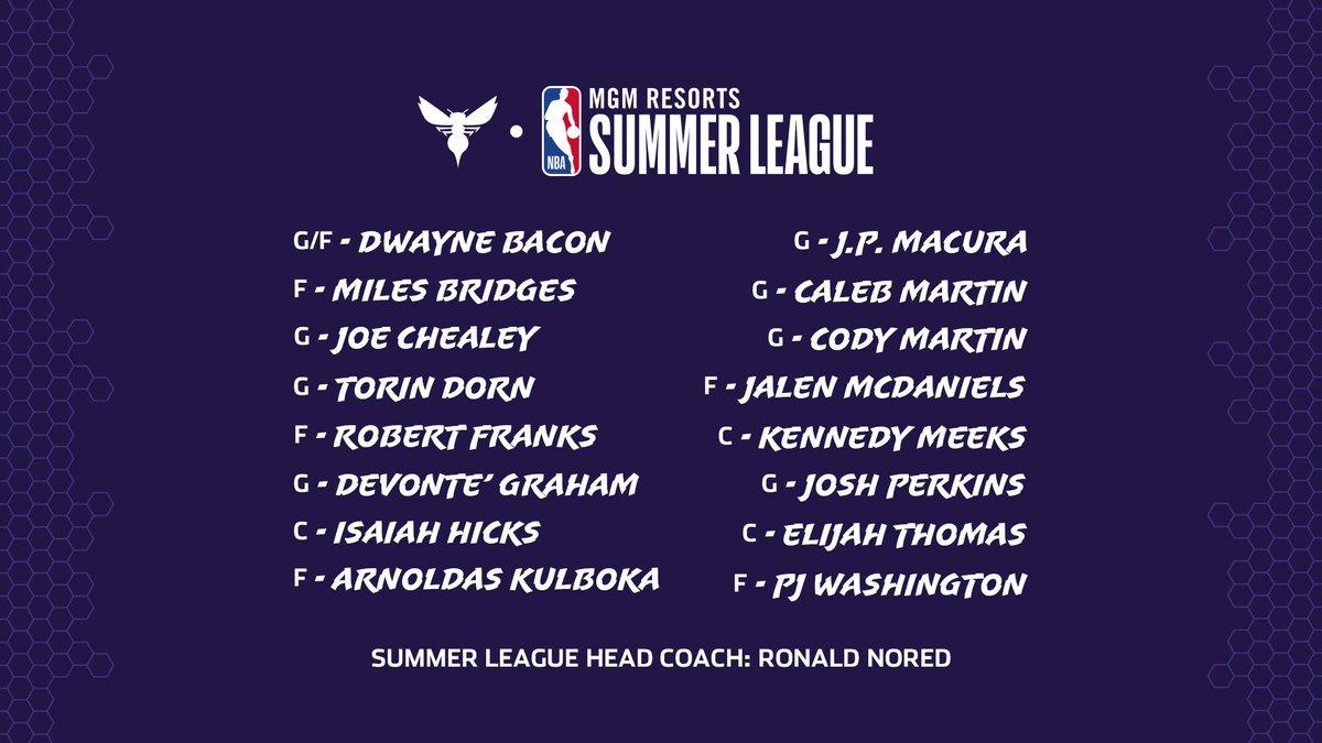 Final @NBASummerLeague roster is set!!! 👊🏼  #BuzzCity