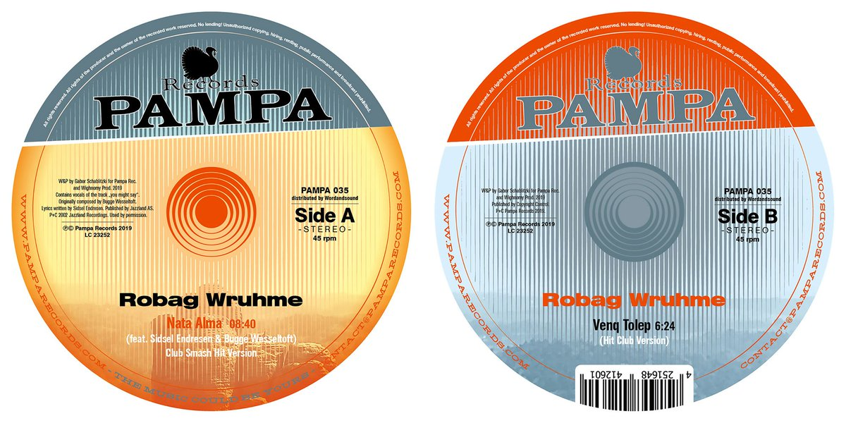 HAPPY RELEASE DAY - OUT TODAY: Robag Wruhme with two stunning hit versions of ´NATA ALMA´ and ´VENQ TOLEP´ - get it here: pampa-records.lnk.to/venqtolepEP pamparecords.com/products/pampa…