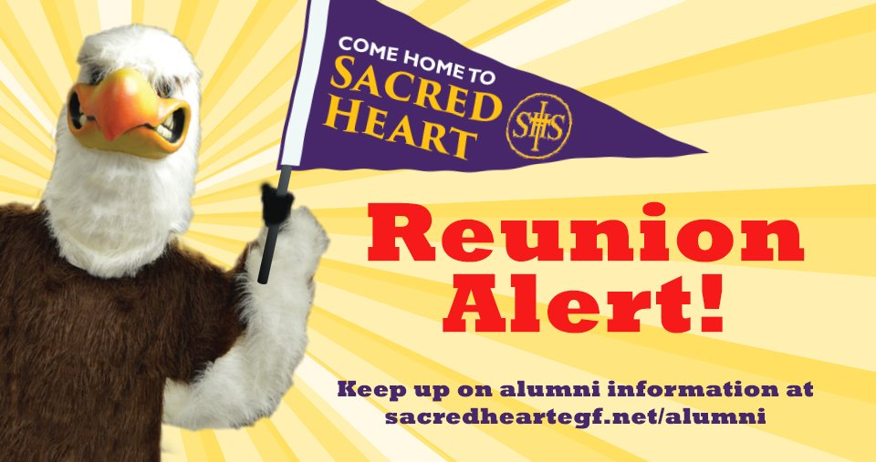 Several classes have events coming up over the summer and fall! Is yours among them? Learn more about Sacred Heart reunions and other events at http://www.sacredheartegf.net/alumni