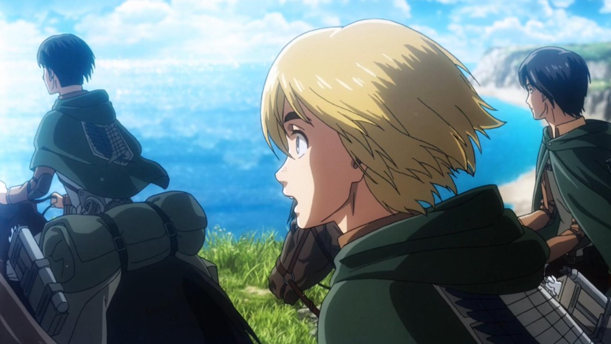 Attack On Titan Wiki On Twitter Armin S Dream Of Seeing The Ocean So Happy For Him