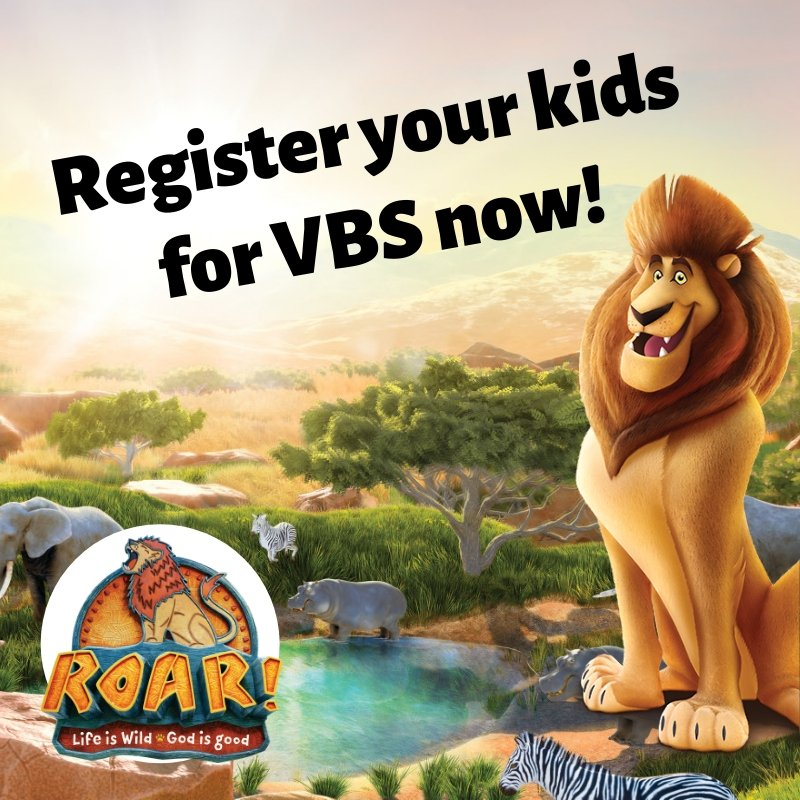 Parents: Register you kids for VBS NOW! Just go to http://crossroadassembly.org/vbs and click the link. We hope to see you July 8-12 for our Savannah adventure! Can't wait!! . #roarvbs #groupvbs #roar #lion #africa #animals #register #onlyatCrossRoad #crossroadvbs #preregister