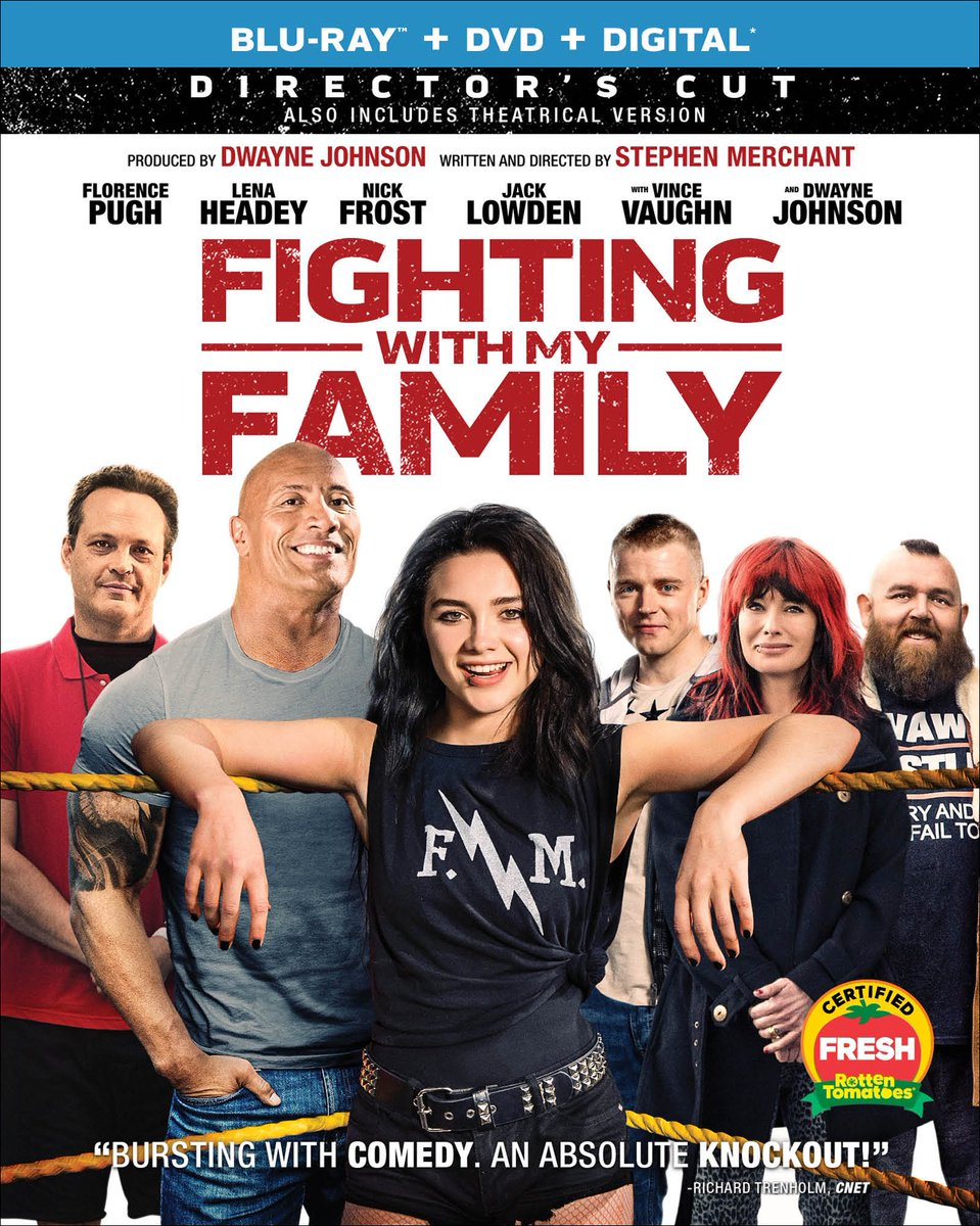 #FightingWithMyFamily now on DVD/BluRay/Digital download