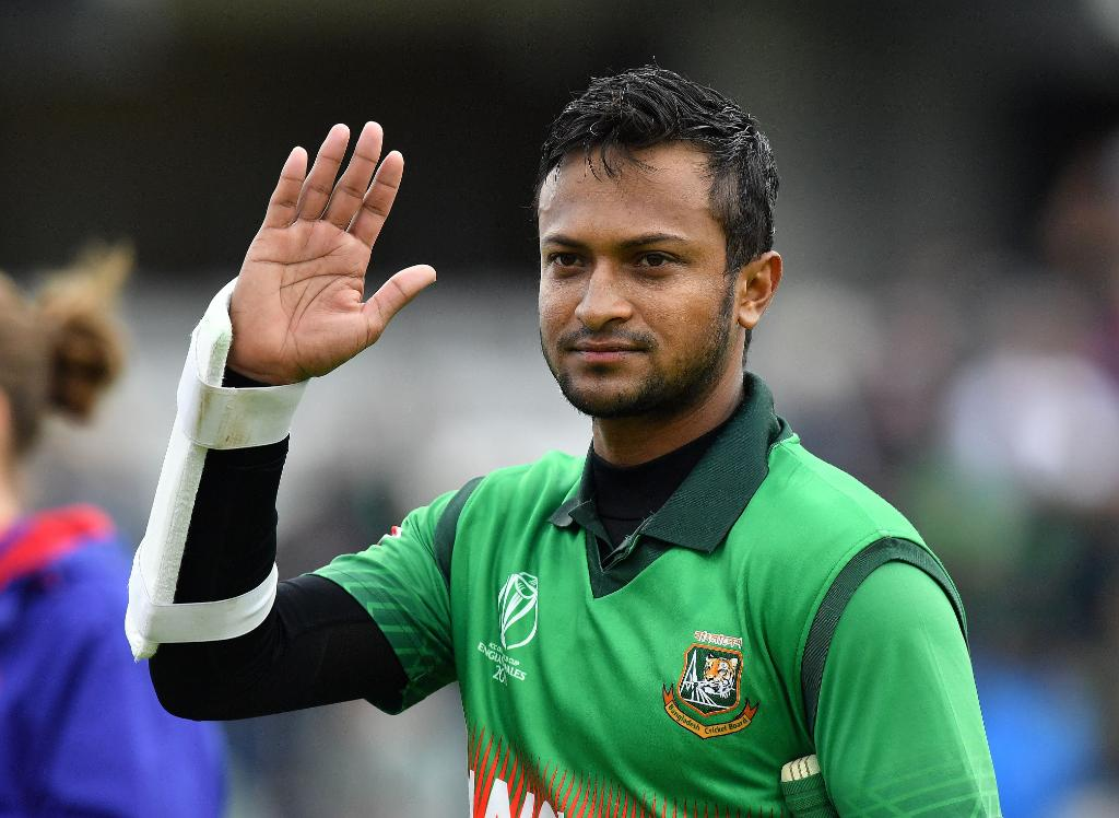 Shakib al Hasan was banned by ICC for failing to report corrupt approaches. (Credits: Twitter/ICC)