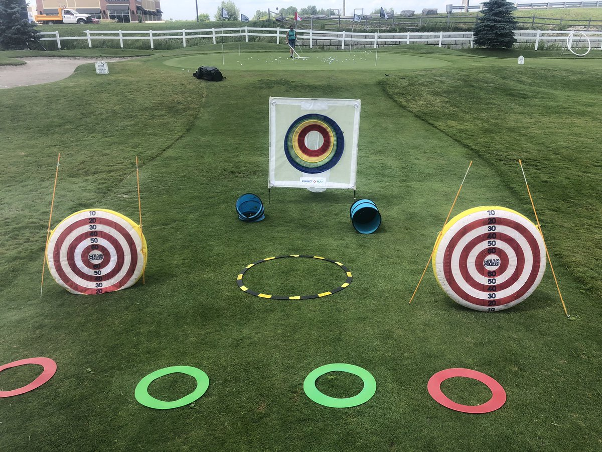 It's Fun N Games day at golf camp today!! Who wants to join in?? #bettergolf #golffun