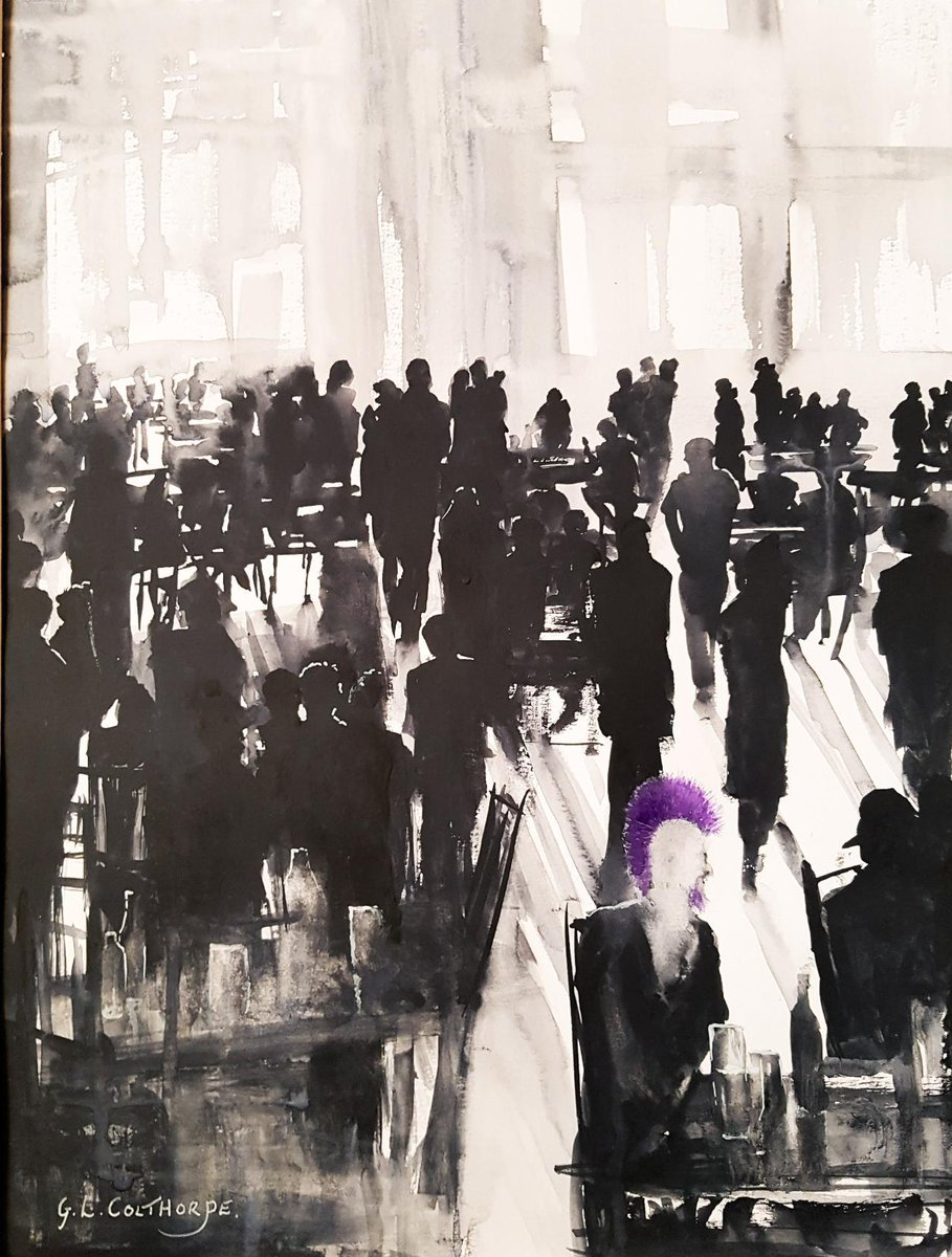 #GrahamColthorpe  The colour Purple Watercolour  12 x16 inches #ArteSinLímites https://t.co/DIkPUd5MN6