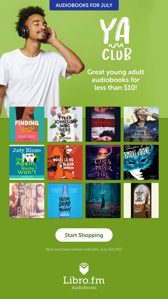 Get July's YA Club audiobooks now for less than $10 each! libro.fm/yaclub #YAClub #Librofm #audiobooks #YA
