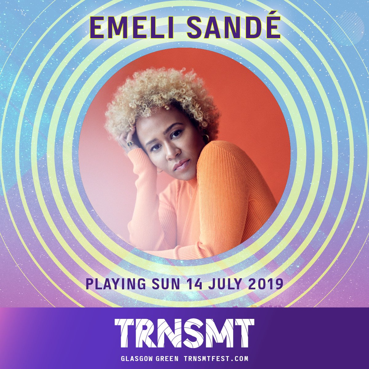 We welcome Scotland's own @emelisande to the #TRNSMT2019 line up as she joins us in Glasgow Green next week in place of Jess Glynne.   Sunday day tickets are sold out, but you can still get 2-day and weekend tickets. BUY NOW ~ http://trnsmt.co/tickets